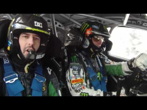 MWRT 2011: Ken Block's first test of the new WRC Ford Fiesta for Rally Sweden