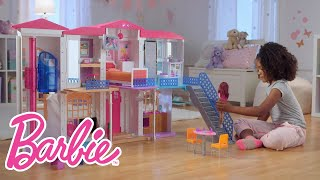 "getlinkyoutube.com-The Interactive Barbie ""Hello Dreamhouse"" at Play 