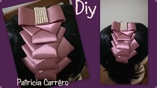 getlinkyoutube.com-Tiara com laço de fita \ Headband with ribbon