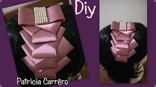 getlinkyoutube.com-Tiara com laço de fita \ Headband with ribbon