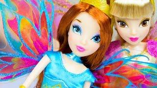 getlinkyoutube.com-Winx Club Fairies Bloom & Stella Dolls Review Nickelodeon