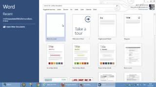 getlinkyoutube.com-การเริ่มต้นใช้งาน Microsoft Word 2013