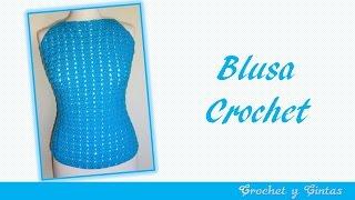 getlinkyoutube.com-Blusa agua marina para verano tejida a crochet ganchillo