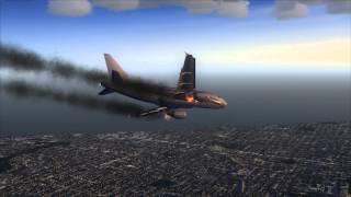 getlinkyoutube.com-Airbus A318 Engine Fire, Emergency Landing