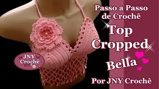 getlinkyoutube.com-Passo a Passo Top Cropped Bella por JNY Crochê