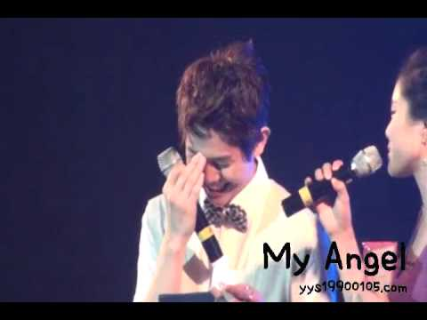 100810 - Yoseob making the fans call him OPPA - Cube Summer Stars Party 2010