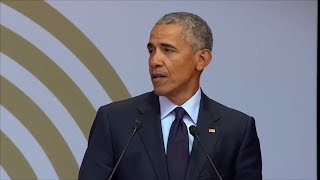 MANDELA GEBURTSTAG:  So amüsant kritisiert Obama Nachfolger Trump