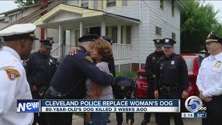 Cleveland Police surprise 80-year-old woman with dog