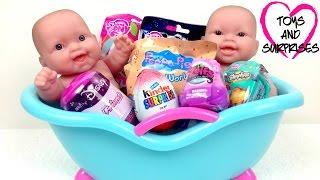 getlinkyoutube.com-Видео с куклой Пупсик Игрушки для Девочек с сюрпризами Baby Dolls Bathtime surprises