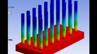 getlinkyoutube.com-ANSYS: Thermal analysis of FINS (circular)