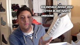 getlinkyoutube.com-Balenciaga Arena High Extra Blanc/White | Unboxing | First Impressions  |@ferrangel21 | #DC21