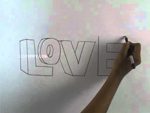 How To Draw A 3d Love