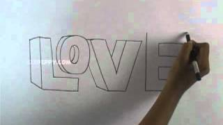 getlinkyoutube.com-How to Draw a 3D Love