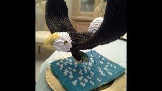 getlinkyoutube.com-3d Origami Eagle Tutorial