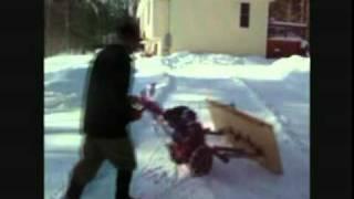 getlinkyoutube.com-Homemade Walk Behind Snow Plow Update