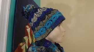 getlinkyoutube.com-Crochet Gorro Con Punto Peruano