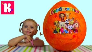 getlinkyoutube.com-Барбоскины большое яйцо с сюрпризом открываем игрушки Giant surprise egg Barboskiny toys