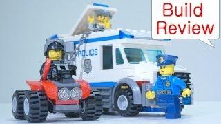 getlinkyoutube.com-Lego Police car 60043 Prisoner Transporter - Car Toys Build Review 레고 장난감