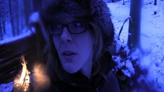 getlinkyoutube.com-Winter Overnight At The Bug Out Camp