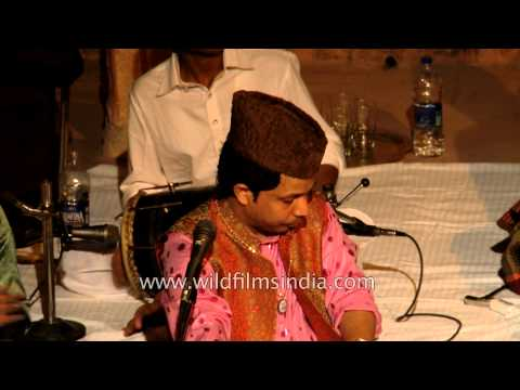 Talented Qawwali Singer Yusuf Khan at Neemrana Fort Palace