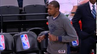 Durant shows off dance moves