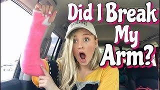 Getting my first Cast ! Did I break my arm?? Dance Injury | Ella