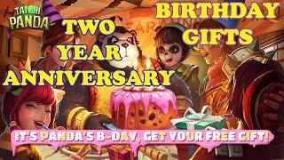 Taichi Panda's TWO YEAR Anniversary FREE Birthday Gifts