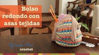getlinkyoutube.com-Bolso redondo tejido a crochet muy fácil!