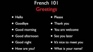 Learn French with French 101 – Greetings – Level One