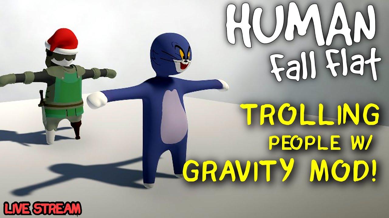 Durf - Trolling People Online w/ Gravity Mod (test) Human Fall Flat [STREAM VOD]