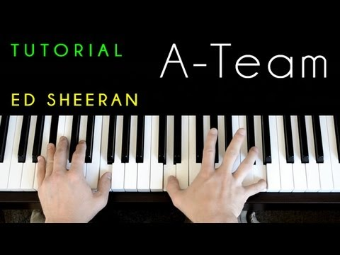 Ed Sheeran A Team Piano Tutorial Cover Chords Chordify