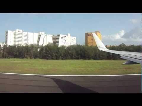 Take off from Puerto Rico SJU Airport