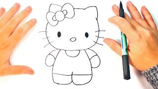 Cómo dibujar a Hello Kitty paso a paso | Dibujo fácil de Hello Kitty