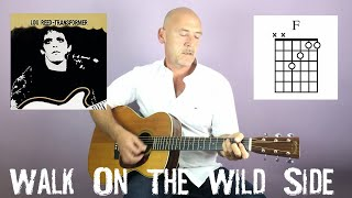 Lou Reed - Walk on the wild side - Guitar lesson by Joe Murphy