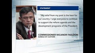 Pag-alis sa pwesto, para sa ikabubuti ng bansa – outgoing Customs Comm. Faeldon