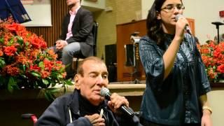 Luiz de Carvalho e sua filha Priscilla na Igreja Batista da Liberdade-SP