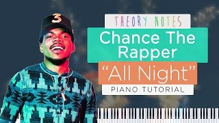 How to Play Chance The Rapper ft. Knox Fortune - All Night | Theory Notes Piano Tutorial