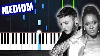 Shontelle/James Arthur - Impossible - Piano Tutorial (MEDIUM) by PlutaX