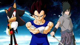 Vegeta vs Shadow and Sasuke