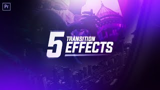 5 VIDEO TRANSITION EFFECTS for VLOGS! NO PLUGINS NEEDED! (Adobe Premiere Pro CC 2017 Tutorial) width=