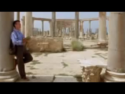 Michael Palin at the Leptis Magna amphitheatre in the Sahara – BBC