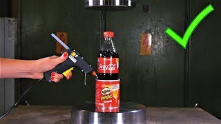 10 AMAZING LIFE HACKS with Hydraulic Press width=