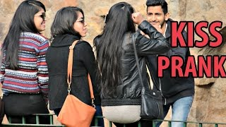 Getting Kisses From Girls Without Talking | Prank in India by AVRprankTV width=