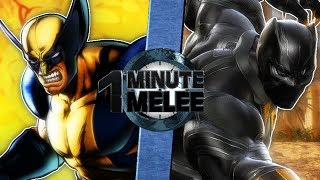 Wolverine vs Black Panther - One Minute Melee S6 EP4