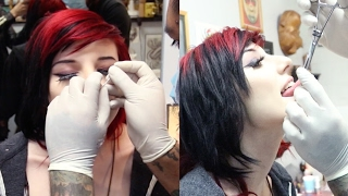 Getting My NOSE PIERCED & Tongue Piercing ALMOST | Alex Dorame