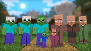 Zombie & Villager Life: Full Animation I - Minecraft Animation