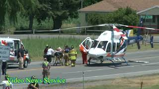BATAVIA/Rollover accident sends driver to hosptial by Mercy Flight