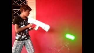 Efeito de arma lazer do star wars!