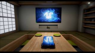 Arch Viz Unreal 4: Japanese Living room 2016