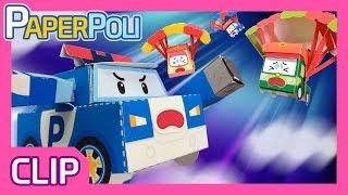 A parachute jump! Escape the dangerous Rainbow! | Paper POLI [PETOZ] | Robocar Poli Special